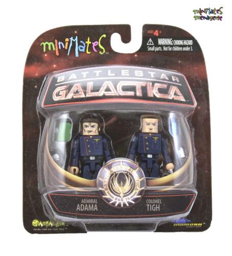 Battlestar Galactica Minimates Series 2 Admiral Adama /& Colonel Tigh