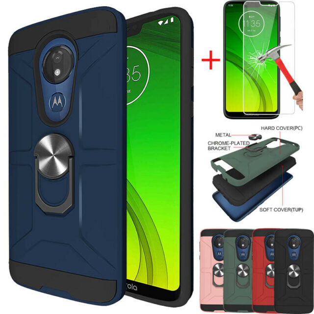 Motorola Moto G7 Case Military Grade Shockproof Cover Raised Edge Metallic Slate For Sale Online Ebay