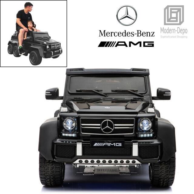 Mercedes Benz Amg G63 6x6 12v Electric Ride On Car 6 Motors Remote Control Blk