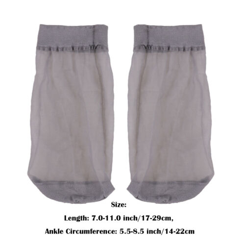 6 Pcs Mens Thin Socks Silk See Through Sheer Over Ankle Stretchy Stocking Cool