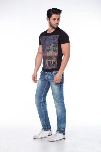 Cipo /& Baxx Slim Fit Jeans c-1149 BLU l30//32//34//36 w28 29 30 31 32 33 34 36 38