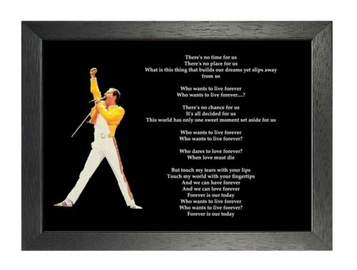 Queen Who Wants To Live Forever Rock Band Poster Freddie Mercury Music Lyrics