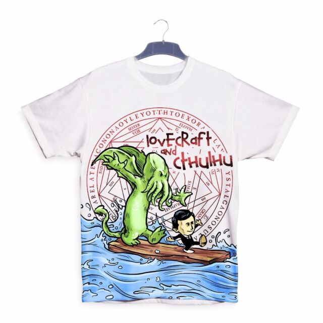 Lovecraft and Cthulhu Calvin Hobbes 3D Mens Womens Childrens Kids T-shirt S103