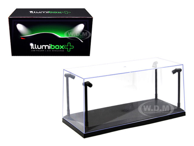ACRYLICASE CLEAR DISPLAY SHOW CASE FOR 1//18 Diecast Car BLACK BASE