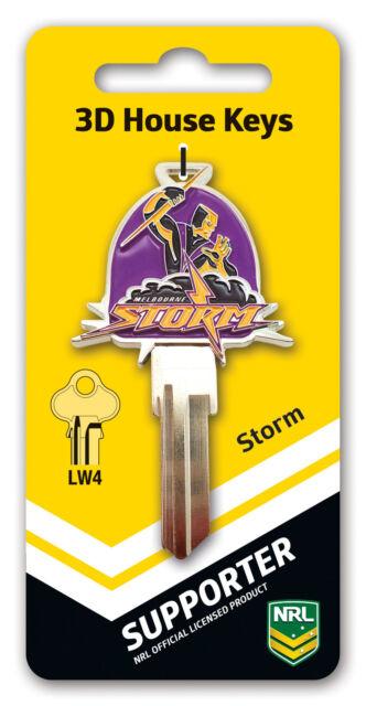 NRL Melbourne Storm 3D House Key LW4/C4 Key Blank
