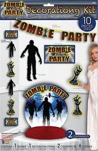 Zombie Party Decor Set 10pc, Halloween Prop/décoration Robe Fantaisie-n, Fancy Dress Fr-fr Afficher Le Titre D'origine Marchandises De Proximité