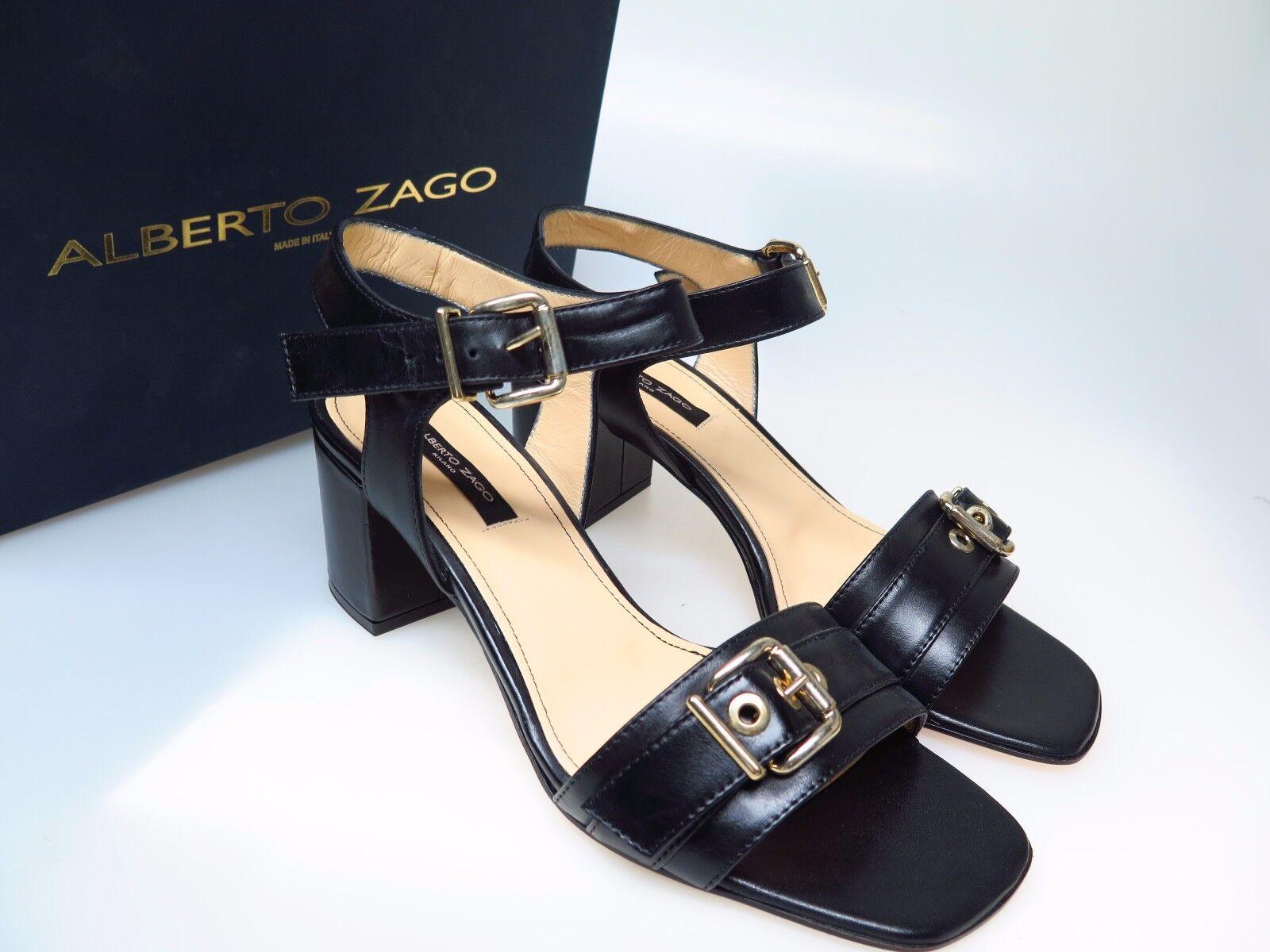 Alberto ZAGO Scarpe da Donna Designer Scarpe 319 VITELLO NERO NUOVO SARA Mis. EU 39 NUOVO NERO e90d72