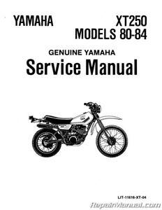 1980 1984 Yamaha Xt250 Motorcycle Service Manual Ebay