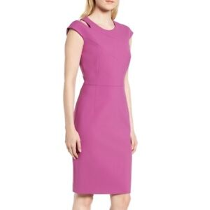 98d626ec49 Hugo Boss Danouk Women s Crepe Purple Magenta Shift Dress Size 10 ...