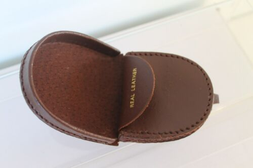 New Small Leather Horseshoe Tray Coin Purse Wallet 3 colours