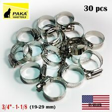 Pack of 2 2-3//8-3-1//8 SAE 44 2-3//8-3-1//8 Pack of 2 HPS EMSC-60-80x2 Stainless Steel Embossed Hose Clamps