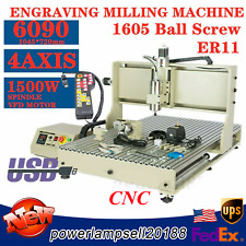 New Listing4axis Cnc 6090 Router Engraver Cutting 3d Milling Drilling Machine Usb 15kwrc