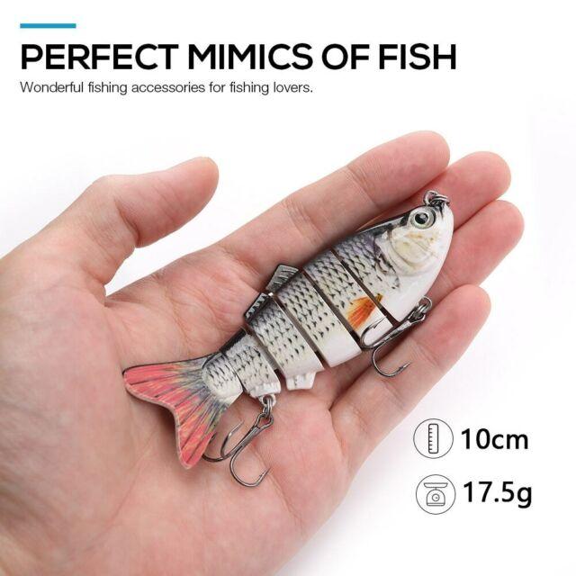 NEW 2019 Animated Fishing Lures 10cm 17.5g 6 Multi Jointed Swimbait Hard