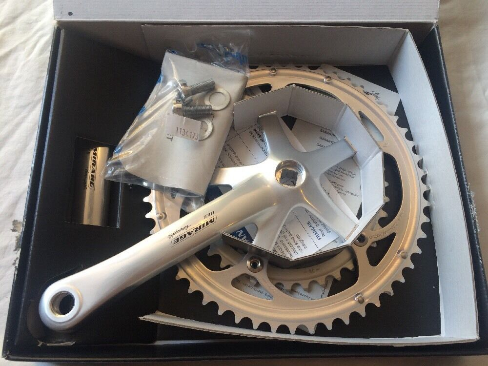 NOS Campagnolo Mirage 9s 172.5mm Crankset  39-53t   Record Chorus Cranks Veloce C  are doing discount activities