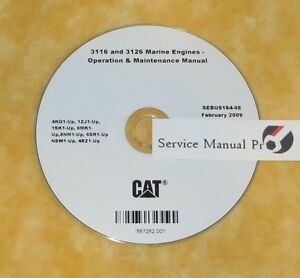 sebu6164 caterpillar 3116 3126 marine engine operation maintenance rh ebay com Cat 3116 Fuel Pump Manual 3116 Cat Engine Specs