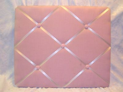 """19"""" Wall Memo Board Photo Note Red White Pink Check Rib French Country Shab Chic"""