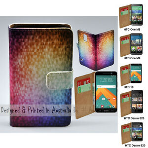 For-HTC-One-X9-10-M9-M8-Desire-820-626-Mosaic-Print-Flip-Wallet-Phone-Case