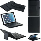 For 7/8/10 inch  Leather Case Bluetooth Wireless Keyboard touchpad mousepad
