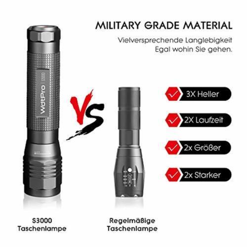 Extrem Hell LED Taschenlampe S3000 PUAIDA 3000 Lumen Taschenlampe mit 3 Modi un