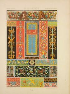 Détails Sur Raop009 Pompéi Herculanum Mosaique Peinture Murale Frise Faune Polybe