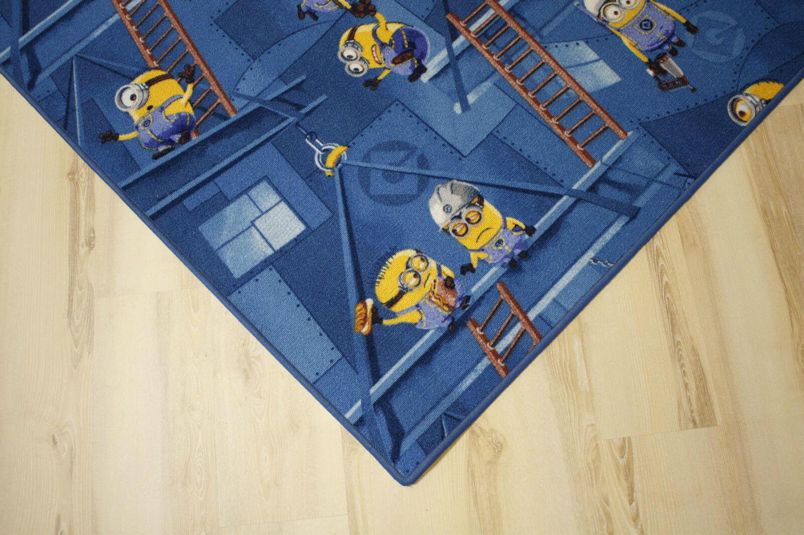 Enfants Tapis Tapis de jeu sbires bleu 200x430 cm NEUF