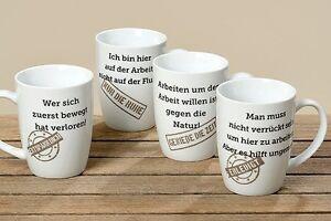 Kaffeetasse Tasse Becher Man muss nicht verrückt sein am