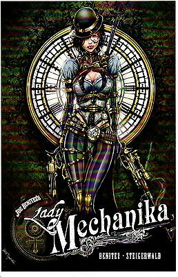 LADY MECHANIKA ART PRINT 1 BY JAMIE TYNDALL SIGNED 11x17