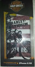 Harley Davidson Phone Case American Flag Motorcycle iPhone 6 6s flexible Cover