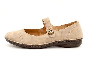 White-Mountain-Womens-Taupe-Suede-Leather-Loafers-Shoes-Size-8-5