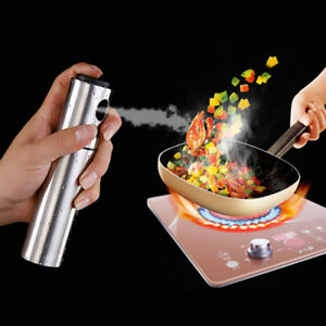 Kitchen Stainless Steel Olive Oil Pump Fine Spray Bottle Sprayer 18cm