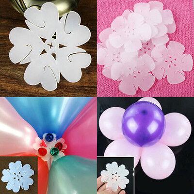 1/5/10/20Pcs Flower Balloons Plum Clip Tie Birthday Wedding Party Decor Supplier