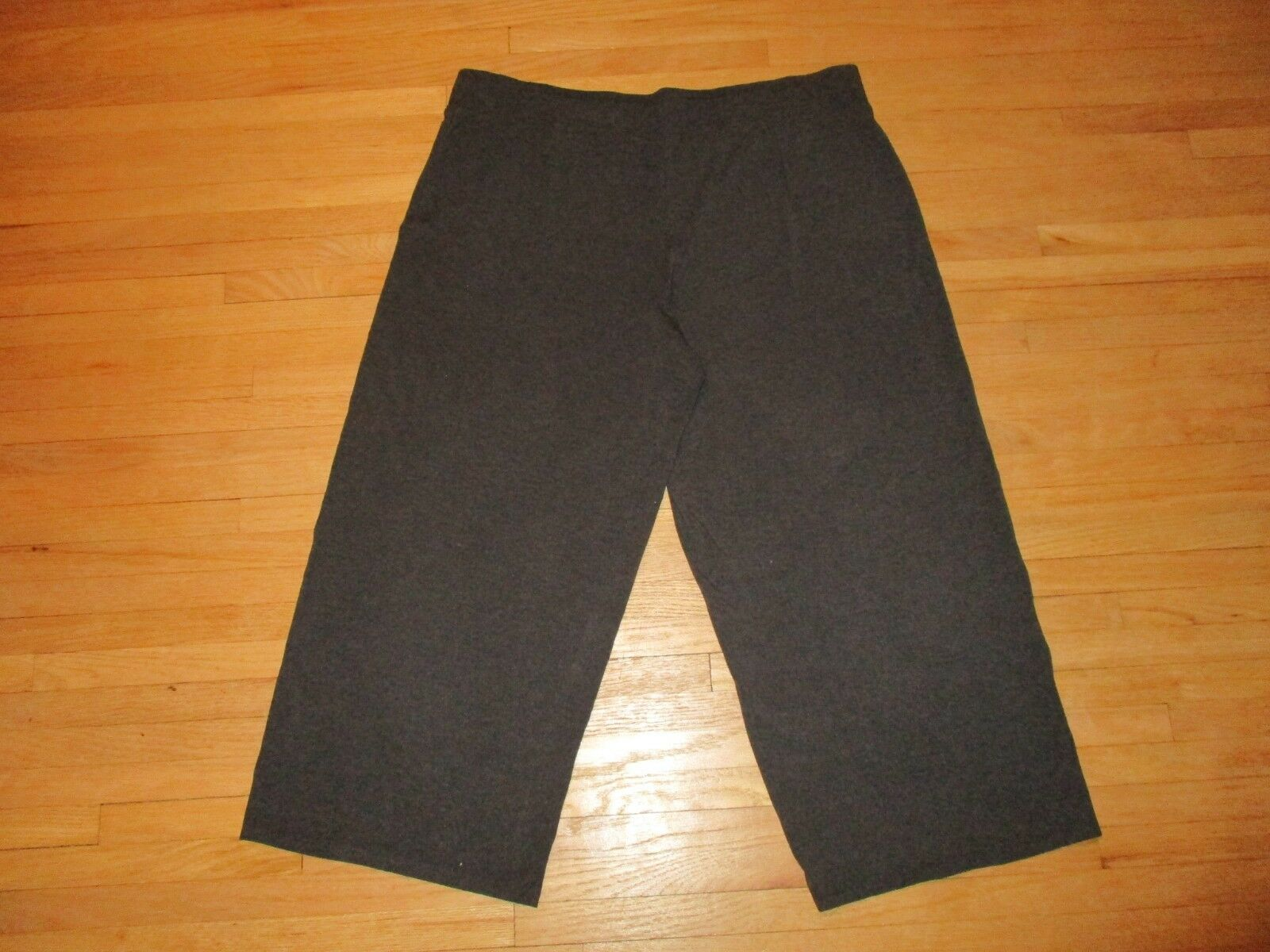 EILEEN FISHER Brown Viscose Spandex Stretchy Wide-Leg Tag-Free Ankle Pants Sz XL