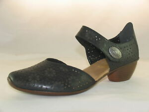 Rieker Shoe Open 43711 Ladies Leather Summer 00 Black Waisted rwr8gWzq7