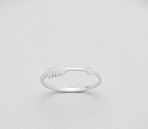 sterling silver band ring Arrow Design  6us 7us 8us 9us stack Hallmarked 925