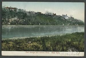 Washington-Heights-New-York-City-NY-c-1906-Postcard-FORT-GEORGE-AND-HARLEM-RIVE