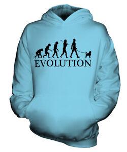 AFFENPINSCHER EVOLUTION HUND KINDER KAPUZENPULLOVER HOODIE JUNGEN