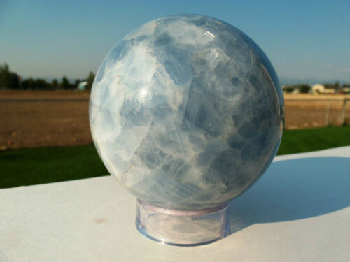 SET OF 5 LARGE ACRYLIC Sphere//Egg DISPLAY STANDS 1.5 INCH DIAMETER