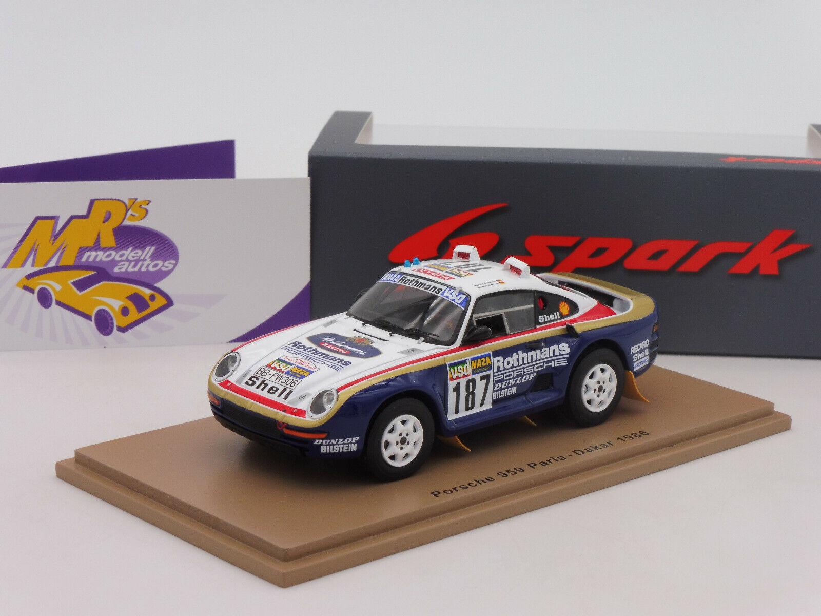 precios bajos todos los dias Spark Spark Spark s7816   Porsche 959 paris-dakar 1986  r. Kussmaul-h. unger  1 43 nuevo  gran selección y entrega rápida
