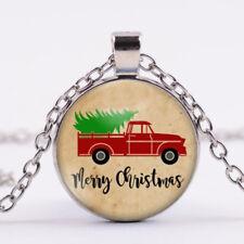 Christmas-elephant Gift CABOCHON Tibetan Silver Glass Chain Pendant Necklace U