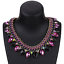 Ladies-Fashion-Crystal-Pendant-Choker-Chain-Statement-Chain-Bib-Necklace-Jewelry thumbnail 5