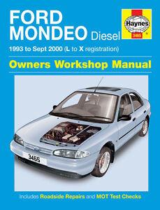 3465 haynes ford mondeo diesel 1993 sept 2000 l to x workshop rh ebay co uk 2005 Ford Mondeo Ford Mondeo Wagon