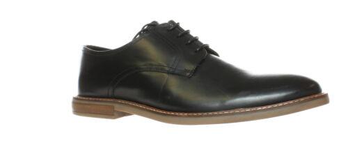 Ben Sherman Mens Brent Plain Toe Black Oxford Dress Shoe Size 11.5