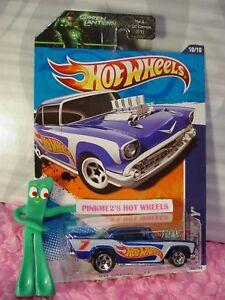 039-57-CHEVY-160-US-Racing-BLUE-1957-CHEVROLET-Green-Lantern-2011-Hot-Wheels