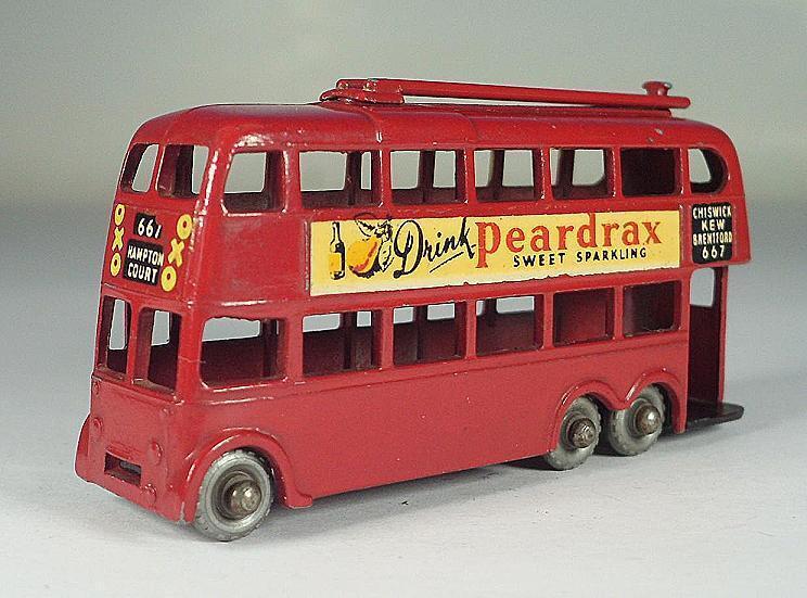 Matchlåda Reguljära hjul Nr. 56 A London Trolley buss Drink Pearlax SPW