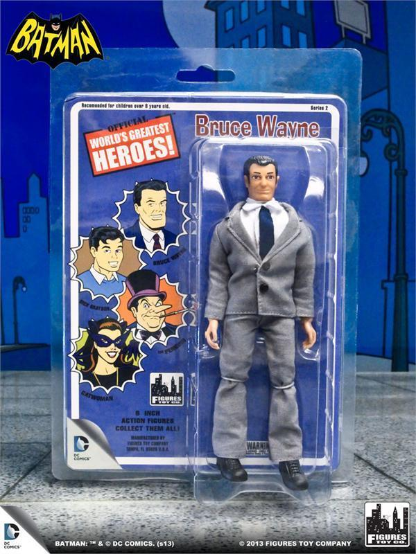 Welts Greatest Heroes retro styled card  Bruce Wayne 8  Wirkung figure NEW