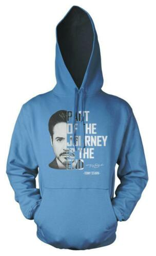 Tony Stark Iron Man Part Of The Journey Is The End Adult Hoodie