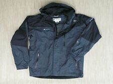 Columbia Titanium Gray Black Coat Men's Size L Omni-Tech Waterproof Breathable