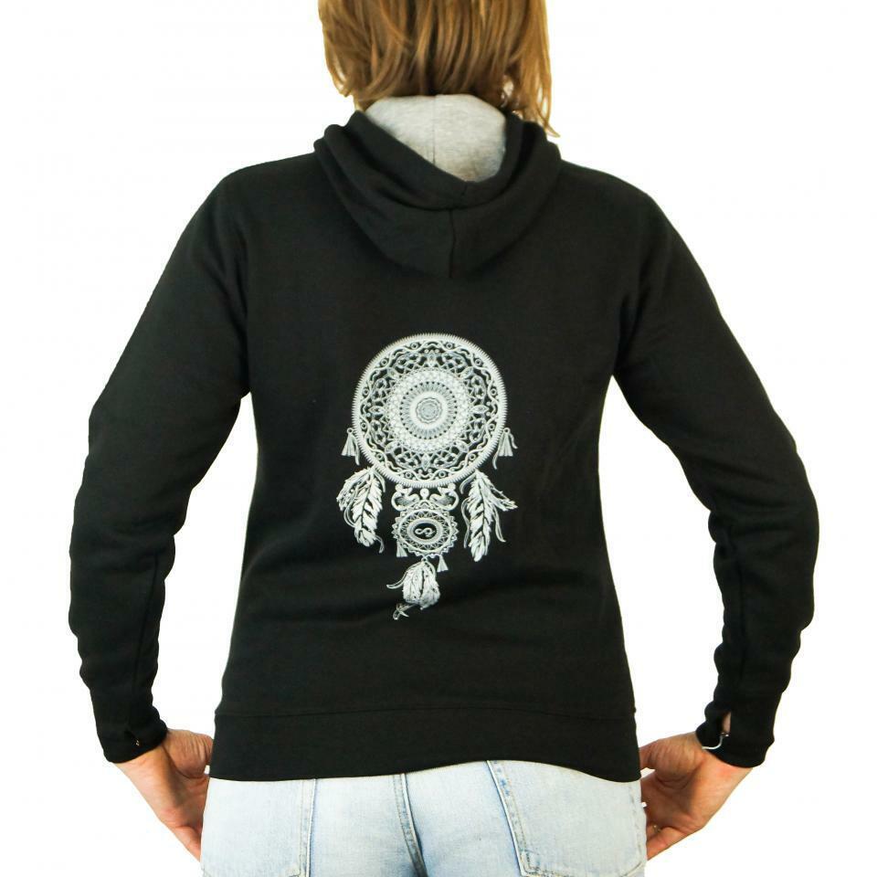 Hooded Sweatshirt Motorcycle Woman' Entourloop Dreamcatcher Black Taille M Lady