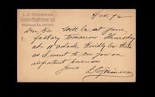 Chicago Thein's Fifth Ave Furniture House 1894 Grant Preprint Postal Card   9r