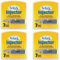 Schick Injector Blades With Durable Chromium 7 Blades Per Pack - Pack Of 4 on sale